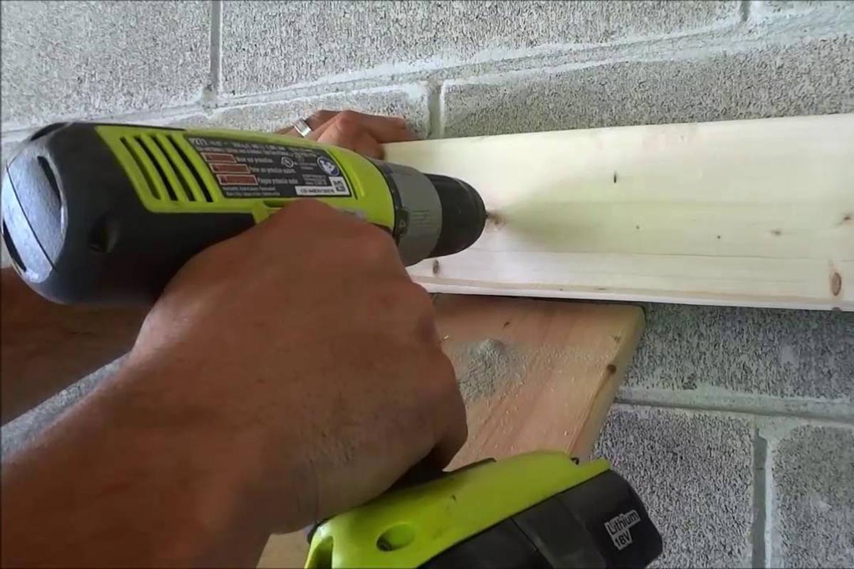 Different Ways of Attaching Things to a Cinder Block Wall